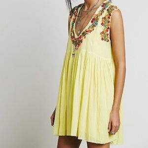 Free People One Modern Mexico Dress in Yellow